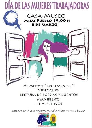 Cartel AM+LV-Q 8 Marzo Dia de las Mujeres Trabajadoras 2013