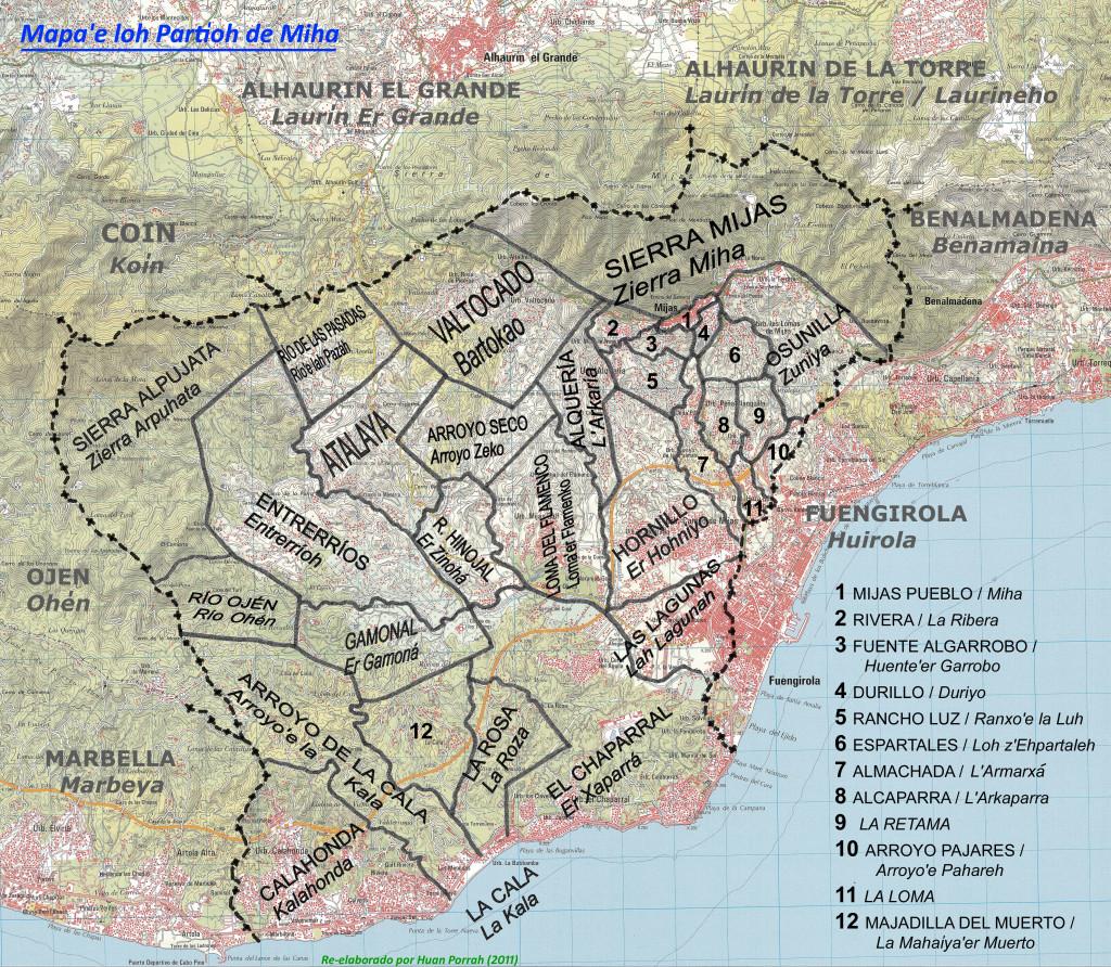 Mapa detayao de Miha kon partioh