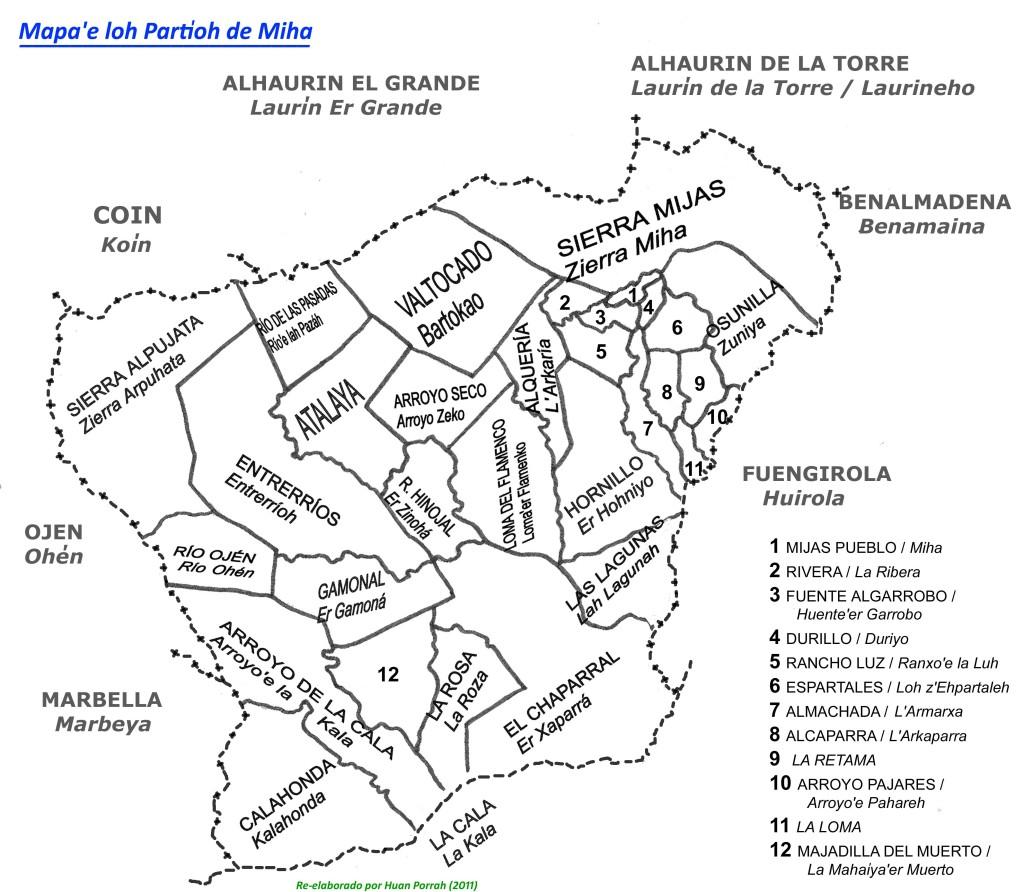 Mapa lindeh de partioh de Miha