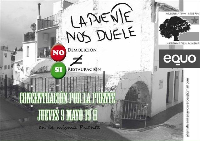 Cartel Concentracion por LA PUENTE, 9 mayo 2013
