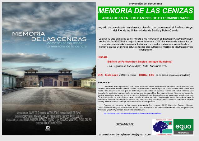 Cartel Documental Andaluces en campos nazis. Lah Lagunah 14-6-13