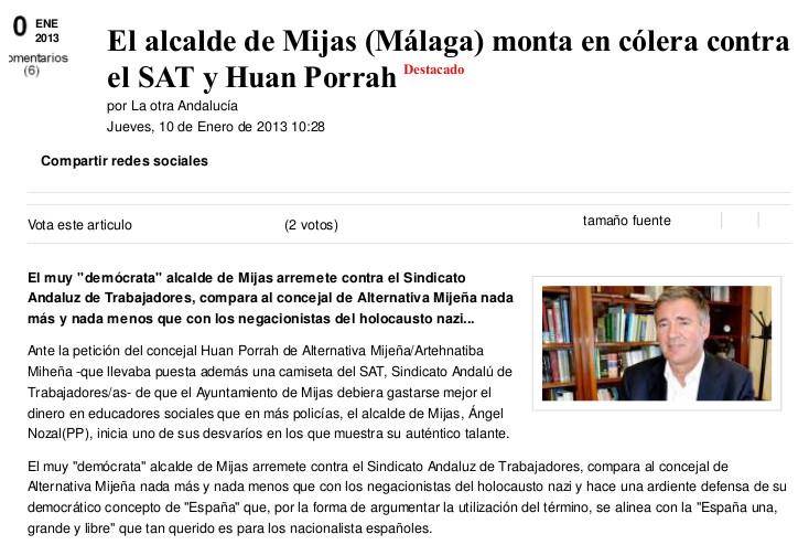 Kaos en la red-El alcalde de Mijas monta en colera contra el SAT y Huan Porrah
