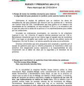 Ruegos y Preguntas AM+LV-Q en Pleno de marzo 2014