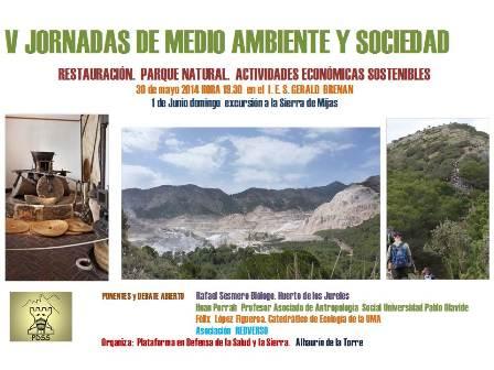 V JORNADAS Mº ambiente y sociedad. Laurineho 2014