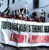 Video y fotos de MANIFESTACIÓN de Miheñ@s por el derecho a PARTICIPAR