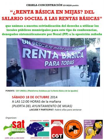 Charla-CONCENTRACION Renta basica en Miha-pueblo, 18-10-2014