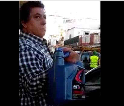 Lazaro kon la gazolina