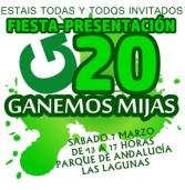 Fiesta presentación del G20 en Lah Lagunah. Ganemos Mijas