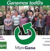 Avance del Cartel electoral de Mijas Gana, Ganemos tod@s