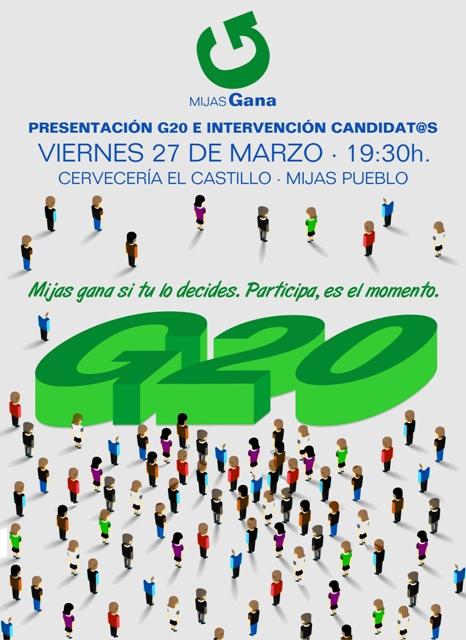 Cartel Present. G20 Mijas 27-03-15