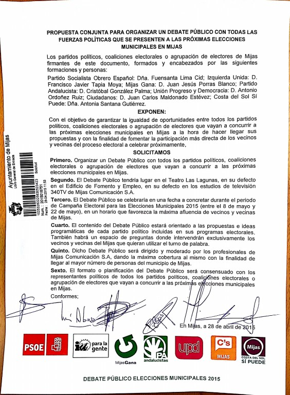 Documento SOLICITUD MULTIPARTITO DEBATES PUBLICOS