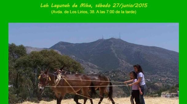 Charla-coloquio Valores etnológicos del socioecosistema algarbeño, propio del Parque Natural Sierra Mijas-Alpujata