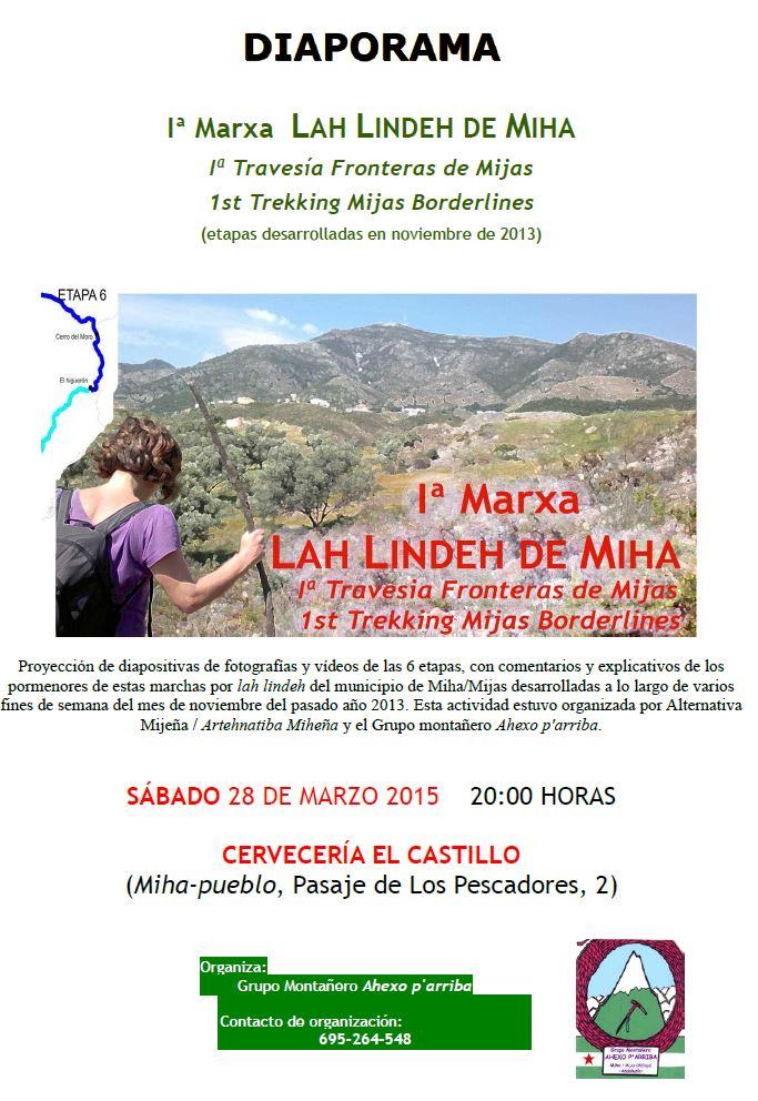 Proyehzion 1ª Marxa Lindeh de Miha, 28-3-15