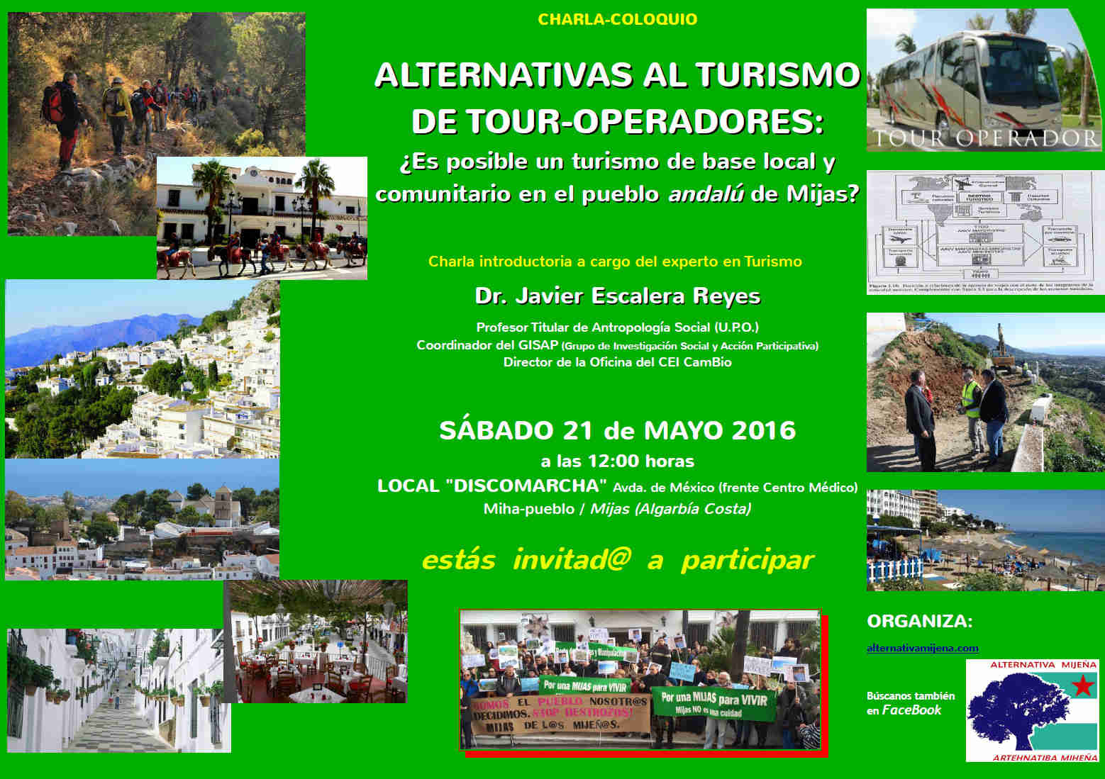 Cartel Coloquio Turismo alternativas para Miha, 21-5-16a