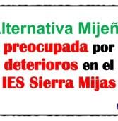 Pleno 2016-12 Alternativa Mijeña preocupada por los deterioros en el IES Villa de Mijas