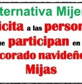 Alternativa Mijeña felicita a las personas que participan en el decorado navideño de Mijas