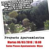 Asamblea Vecinal proyecto aparcamientos para Mijas Pueblo Martes 6 de marzo   18:00 Salón de Plenos Ayuntamiento Mijas ¡Tú decides!