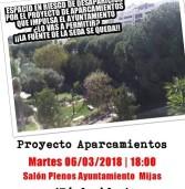 Asamblea Vecinal proyecto aparcamientos para Mijas Pueblo Martes 6 de marzo | 18:00 Salón de Plenos Ayuntamiento Mijas ¡Tú decides!
