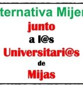 Alternativa Mijeña junto a l@s universitari@s de Mijas