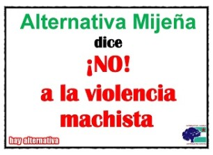 Alternativa Mijeña dice ¡No! a la violencia machista [2019-01-18]