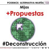 PODEMOS·ALTERNATIVA MIJEÑA Propuestas para la Deconstrucción