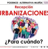 Recepción Urbanizaciones.