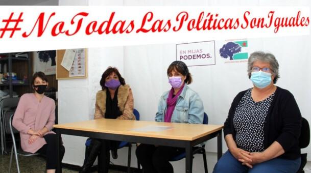 Con las Trabajadoras del Hospital Virgen De La Victoria.